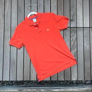 BROOKS BROTHER Orange Short Sleeve Polo Shirt